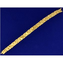 Heavy 18k Yellow Gold Men's Nugget Bracelet by Mayor's