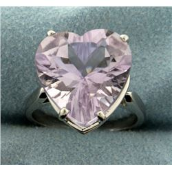 Natural 11ct Amethyst Heart Ring