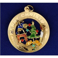 Colorful Merry Christmas Pendant