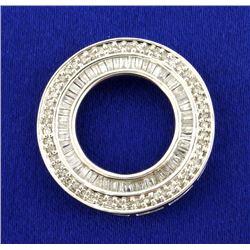 2ct TW Diamond Circle Pendant