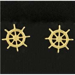 Ship Wheel Earrings
