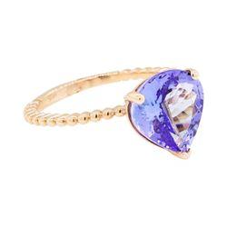 3.36 ctw Tanzanite Ring - 14KT Rose Gold