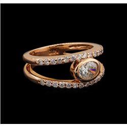 14KT Rose Gold 0.96 ctw Diamond Ring