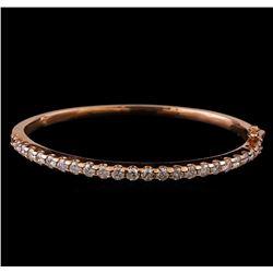 14KT Rose Gold 2.88 ctw Diamond Bangle Bracelet