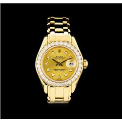 Rolex Datejust Pearlmaster 18KT Yellow Gold Ladies Watch