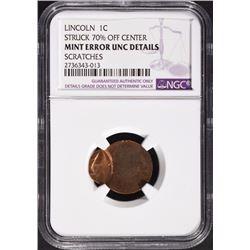 LINCOLN CENT MINT ERROR UNC DETAILS