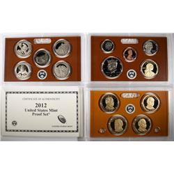 2012 United States Mint Proof Set.