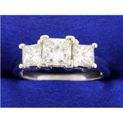 2.10 ct TW Three Stone Diamond Ring