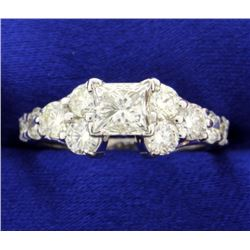 2 1/2 Ct Princess Cut Diamond Ring