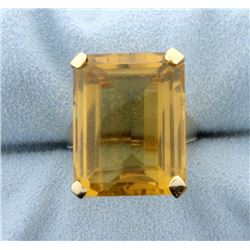 Large 20 Carat Citrine Ring