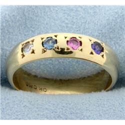 Multi-Color Gemstone Ring