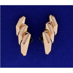 Rose Gold Large Clip On Earrings