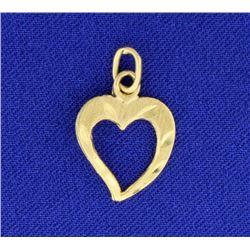 14K Heart Pendant