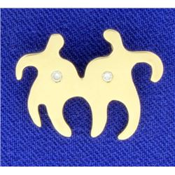 Diamond & 14K Gold Together Pendant