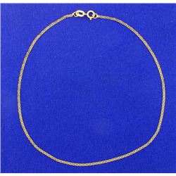 10 Inch Anchor Chain Anklet