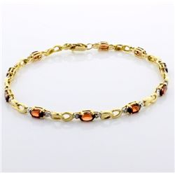 2.5ct TW Garnet Line Bracelet