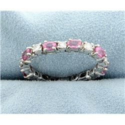 Flexible Pink Topaz & Diamond Ring