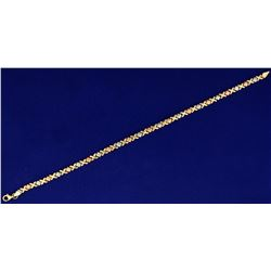 Rose, White, and Yellow Gold Anklet