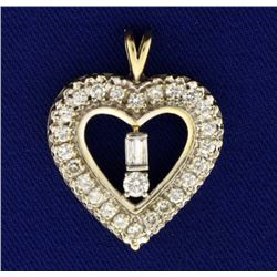 1.25ct TW Diamond Heart Pendant