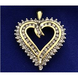 1 1/4ct TW Diamond Heart Pendant