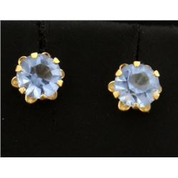 Sky Blue Crystal Stud Earrings