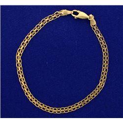 7 1/2 Inch Flat Link Bracelet