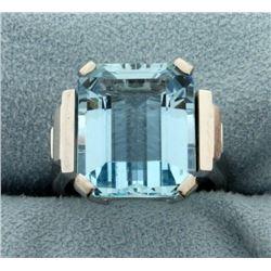 Over 9ct Aquamarine Ring