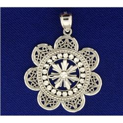Abstract Flower Pendant