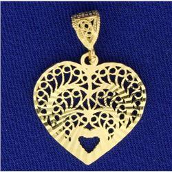 Intricate Unique Heart Pendant