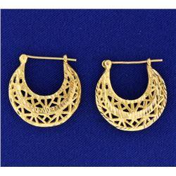 Crescent Shape Designer Earrings