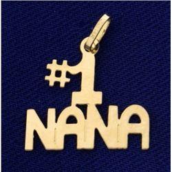 14k Gold #1 Nana Pendant