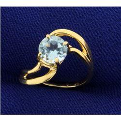 Child's Sky Blue Topaz Ring in 14k Gold