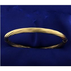 18k Gold Twisting Bangle Bracelet