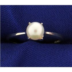 Solitaire 6mm Pearl Ring