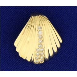 Diamond Sea Shell Pendant or Slide
