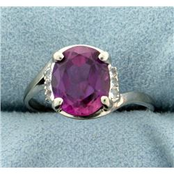 Pink Topaz and CZ Ring