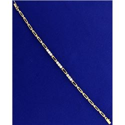 1 ct TW Diamond Bracelet in 14k Gold