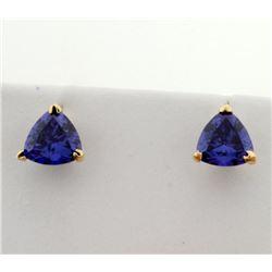 2ct TW Natural Tanzanite Stud Earrings