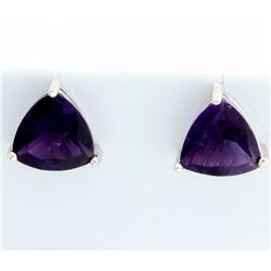Large Amethyst Stud Earrings