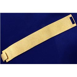 Wide Woven Cuff Vintage Bracelet