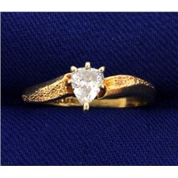 1/4 Carat Pear Shape Diamond Solitaire Ring