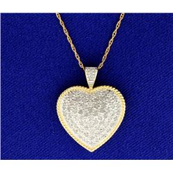 1 ct TW Diamond Heart Pendant