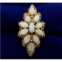 Large Vintage Opal Ring in 14K Yellow Gold