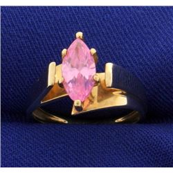 Brilliant Pink Topaz Ring