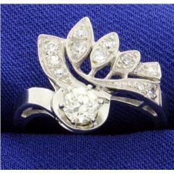 Vintage 1/2 ct Total Weight Diamond Ring