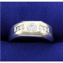 .9ct TW Men's 18K Diamond Ring
