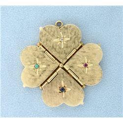 Unique Four Heart Lockets Pendant