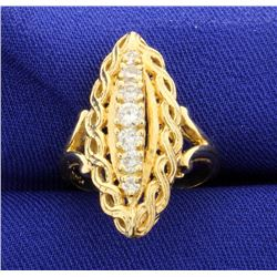 Vintage 1/2ct Diamond Ring