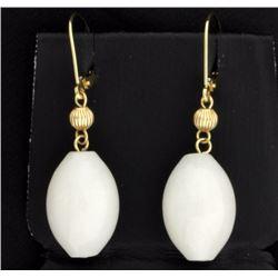 Dangle Glass Bead Earrings