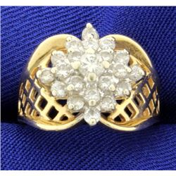 1 ct TW Diamond Cluster Ring